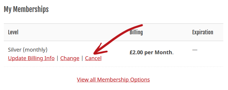 How to cancel membership